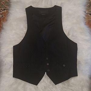 BCBGMaxAzria Black Button Down Vest